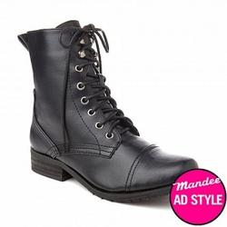 Купить ботинки высокие на шнуровке женские в